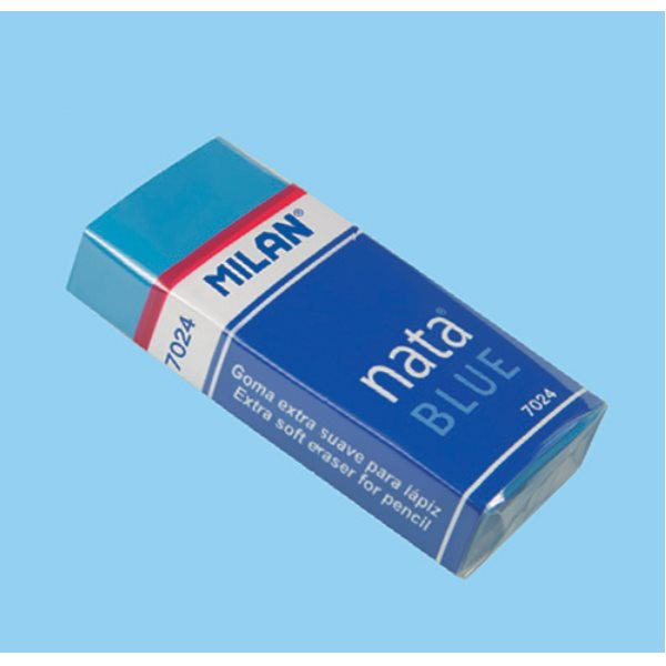 Milan Box 24 Blue Soft Erasers