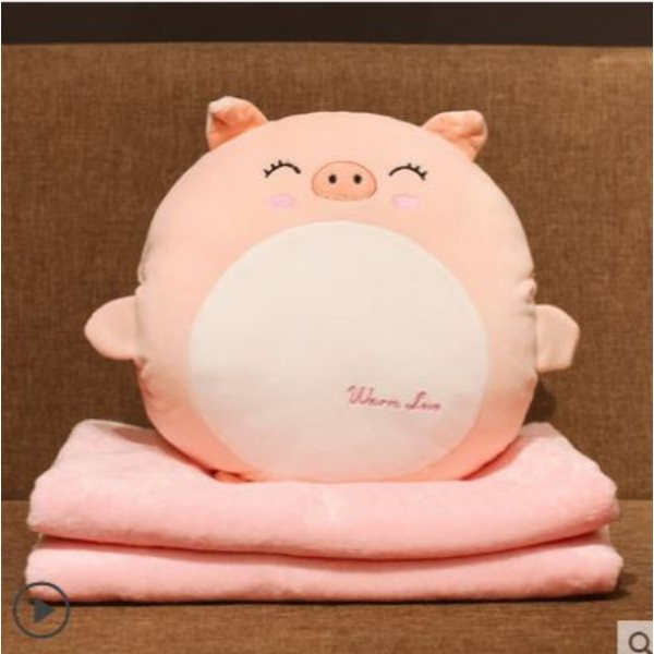 Pillow Quilt Dual-use Office Cushion Car Cushion Hand pillow (35x35 cm pillow without blanket) Love cat [collection plus purchase priority]