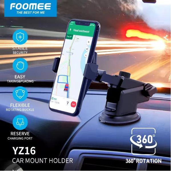 YZ16 (Car Phone Holder) Black