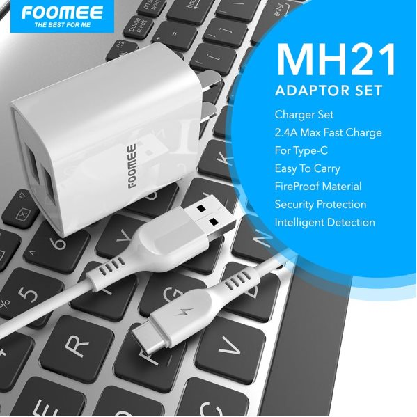 MH21(Dual USB Charger) White