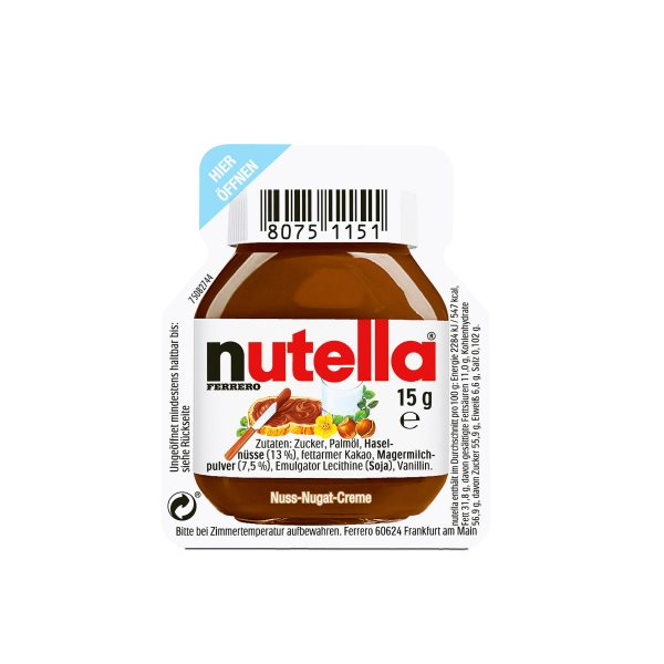 NUTELLA HAZELNUT SPREAD WITH COCOA PORTION PACK 15G