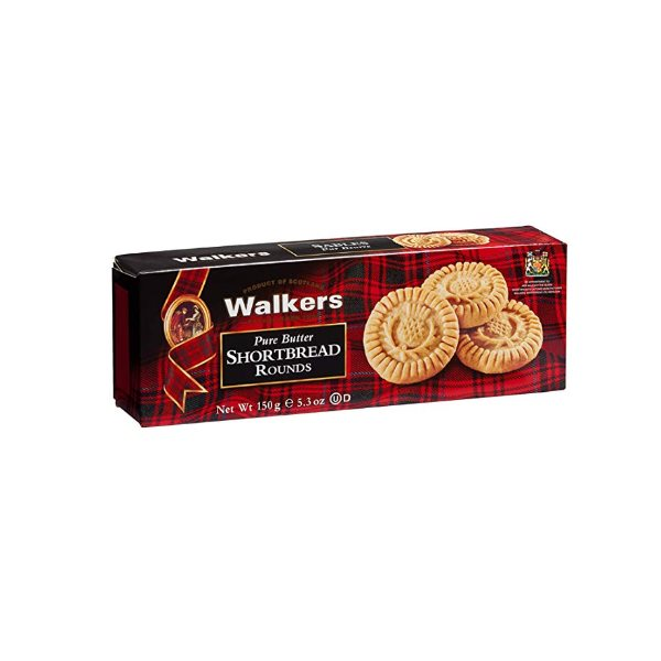 WALKERS PURE BUTTER ROUNDS COOKIES 150G