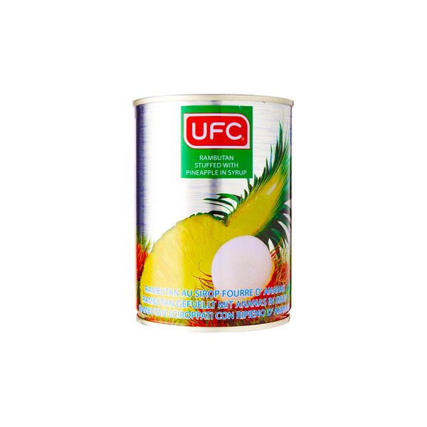 UFC RAMBUTAN W/PINEAPPLE IN SYRUP 565G