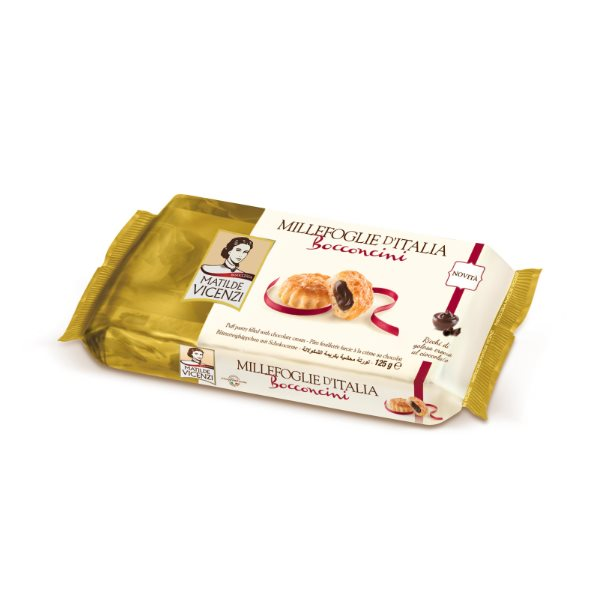 VICENZI BOCCONCINI PUFF PASTRY FILLED W/CHOCOLATE 125G