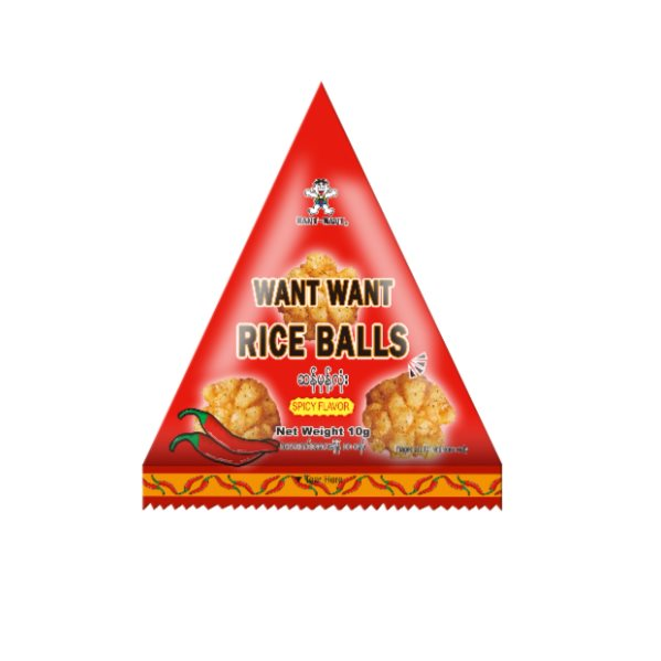 Want Want Rice Balls ‐ Spicy x 25 small pack 250g