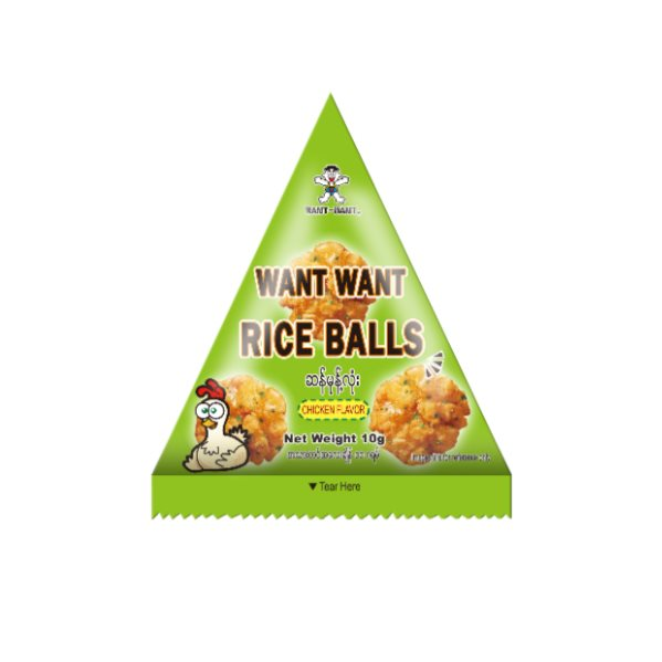 Want Want Rice Balls ‐ Chicken x 25 - 250g