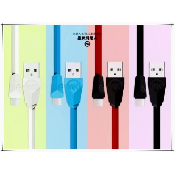 WK UFO Lightning Cable For IPhone/IPad Red