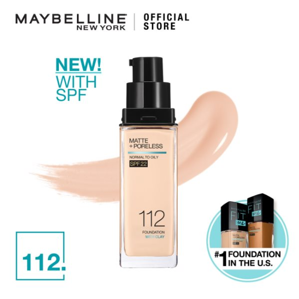 MAYBELLINE Fit Me Matte + Pore Foundation 112 Natural Ivory 30ML