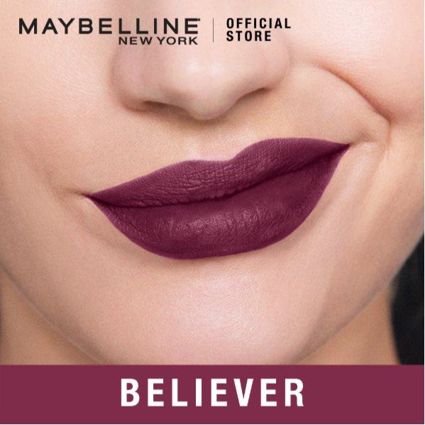 MAYBELLINE SUPER STAY MATTE INK ASHLEY LONGSHORE LIMITED EDITION LIPS 40 BELIEVER 5ML