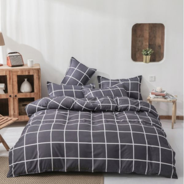 Four-piece quilt cover bed sheet set 01 1.5m Bed four-piece set (Quilt cover 150x200cm)