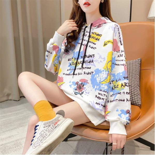 Super Fire Sweater Women's Spring And Autumn Waitmore Hooded Thin Coat White M