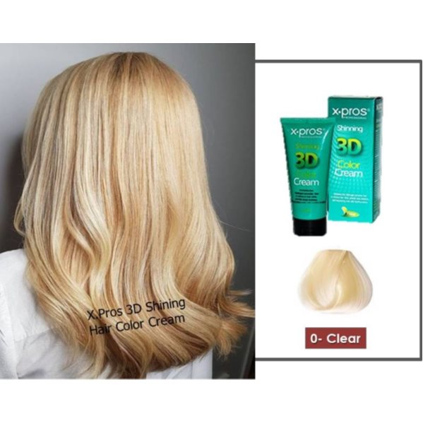 X.Pros Shining 3D Color Cream (Temporary Hair Dye) Color No 0 (CLEAR)
